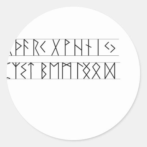 Runes Elder Futhark Round Stickers