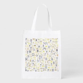 Runes Grocery Bag