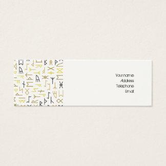 Runes Mini Business Card