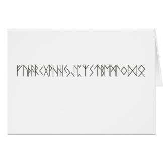 Runes Stationery Note Card