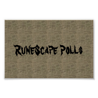 RuneScape Polls on logo poster