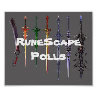 RuneScape Polls sword poster