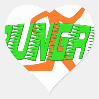 Rungry Logo Heart Sticker