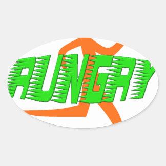 Rungry Logo Oval Sticker