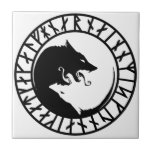 "Runic Dire Wolf viking norse nordic runes Tile<br><div class=""desc"">Runic Wolf viking norse nordic runes dog husky dire wolf</div>"