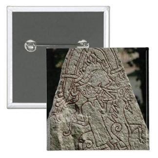 Runic stone button