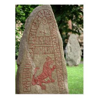 Runic stone postcard