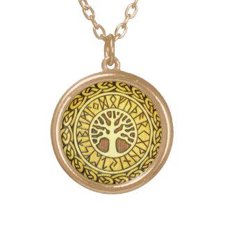 Runic Tree Engraving - Viking Necklace