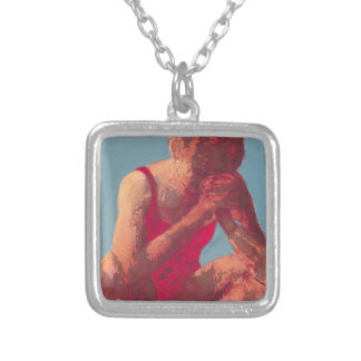 Runner 2011 silver plated necklace