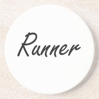 Runner Artistic Job Design Drink Coaster
