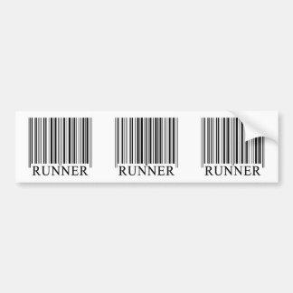 Runner Barcode Bumper Sticker