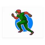 Runner Baseball Post Card