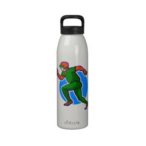 Runner Baseball Water Bottles