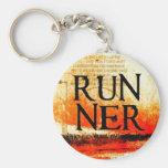 Runner Basic Round Button Keychain