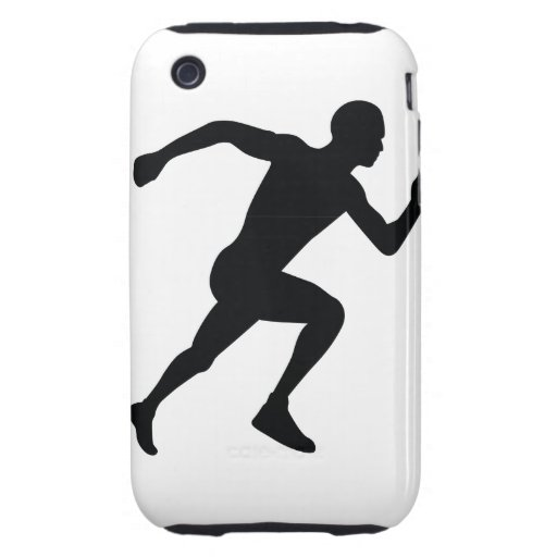 Runner Black Silhouette Shadow iPhone 3 Tough Covers