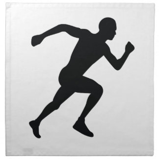 Runner Black Silhouette Shadow Cloth Napkins