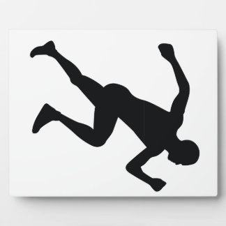 Runner Black Silhouette Shadow Photo Plaque