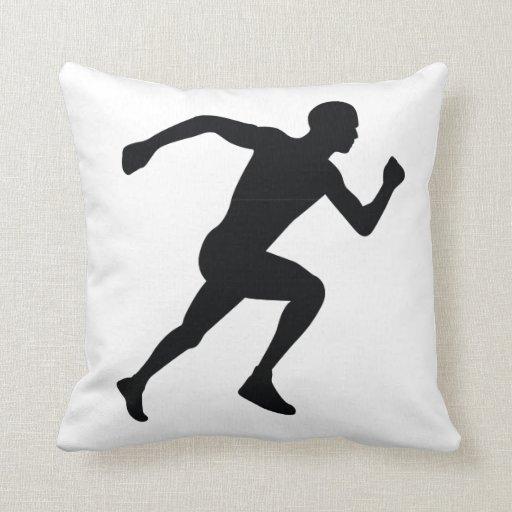 Runner Black Silhouette Shadow Pillows