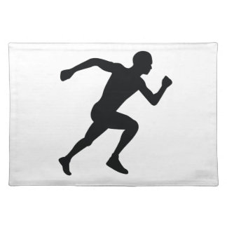 Runner Black Silhouette Shadow Placemat