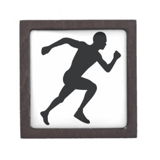 Runner Black Silhouette Shadow Premium Gift Boxes