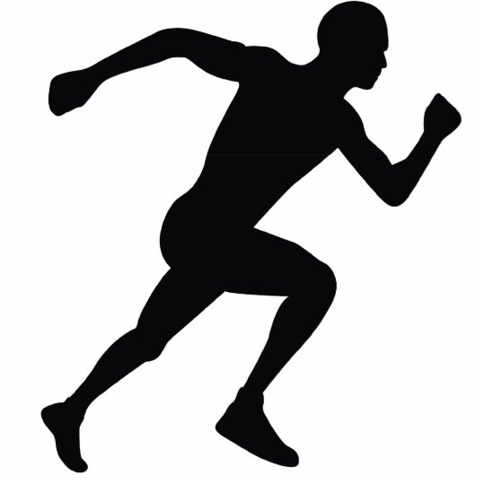 Runner Black Silhouette Shadow Statuette