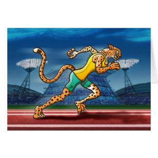 Runner Cheetah Card