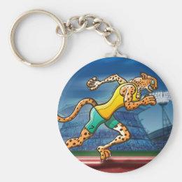Runner Cheetah Keychain
