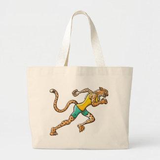 Runner Cheetah Large Tote Bag