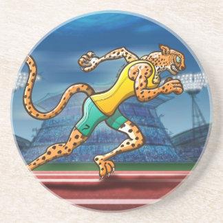 Runner Cheetah Sandstone Coaster
