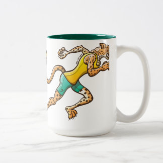 Runner Cheetah Two-Tone Coffee Mug