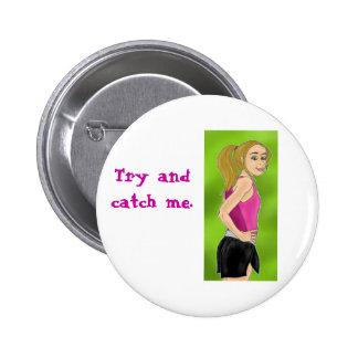 Runner Chick Button