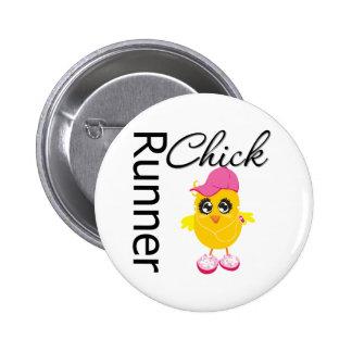 Runner Chick Pinback Button