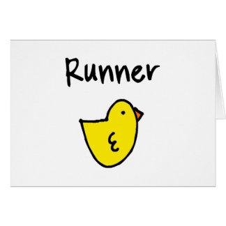 Runner Chick Horizontal Greeting Card