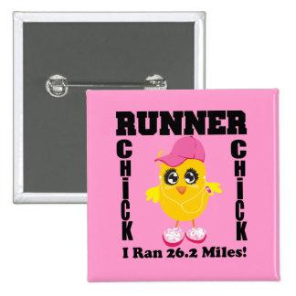 Runner Chick I Ran 26 2 Miles Pinback Button