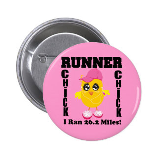 Runner Chick I Ran 26 2 Miles Pinback Buttons