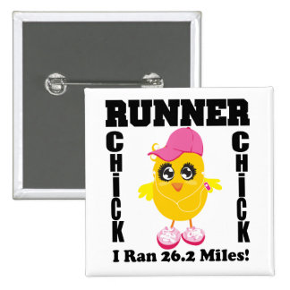 Runner Chick I Ran 26 2 Miles Buttons