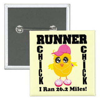 Runner Chick I Ran 26.2 Miles! Buttons