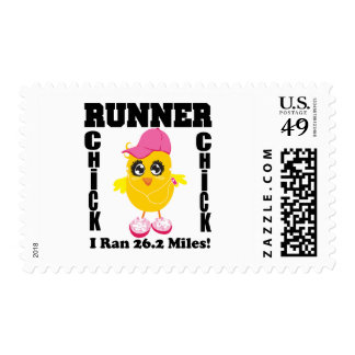 Runner Chick I Ran 26.2 Miles! Stamp