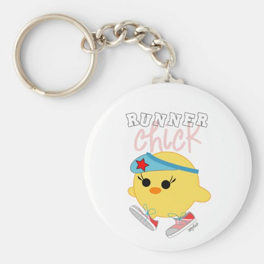 Runner Chick Keychain