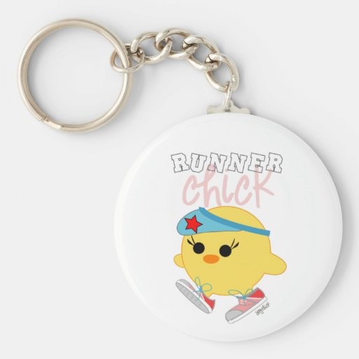 Runner Chick Keychain