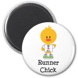 Runner Chick Peace Love 13.1 Magnet