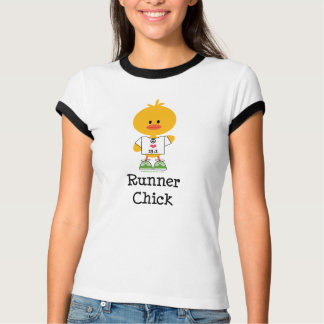 Runner Chick Peace Love 13.1 Ringer Tee Shirt