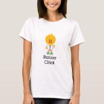 Runner Chick Peace Love 13.1 T shirt