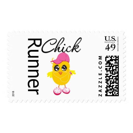 Runner Chick Stamp