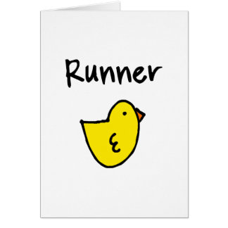 Runner Chick Vertical Greeting Card