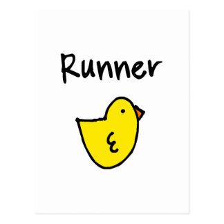 Runner Chick Vertical Postcard