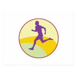 Runner Circle Postcard