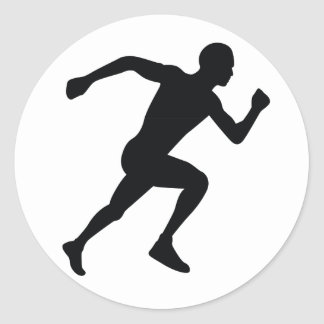 Runner Classic Round Sticker