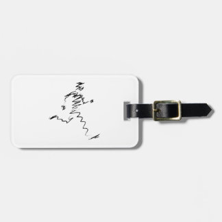 Runner cool illustration bag tags