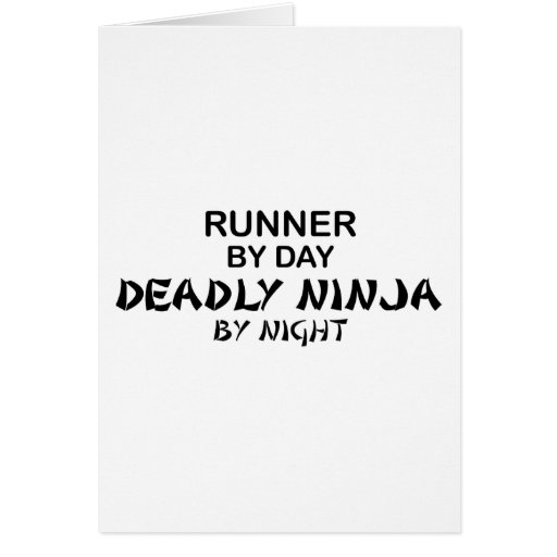 Runner Deadly Ninja by Night Greeting Card